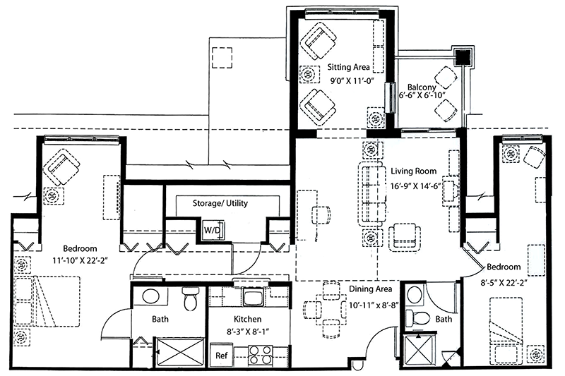 2 Bedrooms + Den