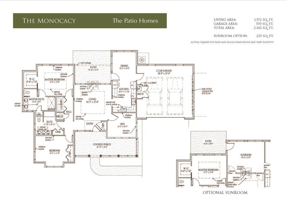 Monocacy Floor Plans