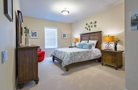 Master bedroom in the Appalachian apartment