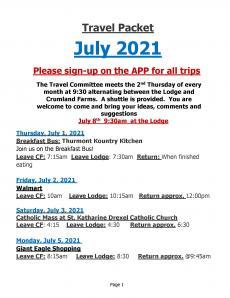 2021 July Trips