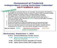 September 2021 IL Activity Calendar