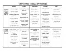 September 2021 Fitness Calendar